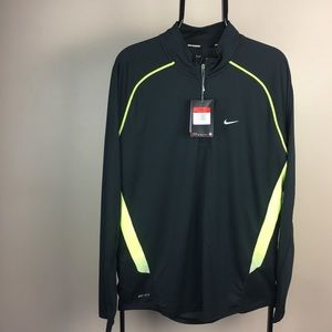 NIKE Running Dry Fit Half zip black shirt NWT